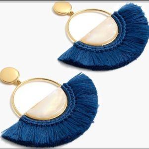 COPY - J. Crew Blue Fan Earrings